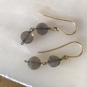 Jewelry - Labradorite drop earrings handmade